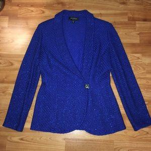 St John size 6 blue sparkly suit